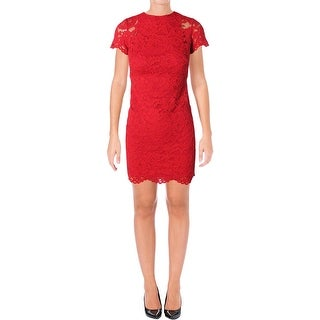 Lauren Ralph Lauren Womens Casual Dress Lace Cap Sleeves