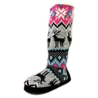 Muk Luks Grace Women Round Toe Canvas Multi Color Winter Boot