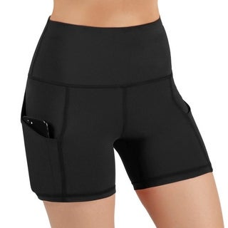 Jolie High-Waisted Athletic Shorts with Hip Pockets