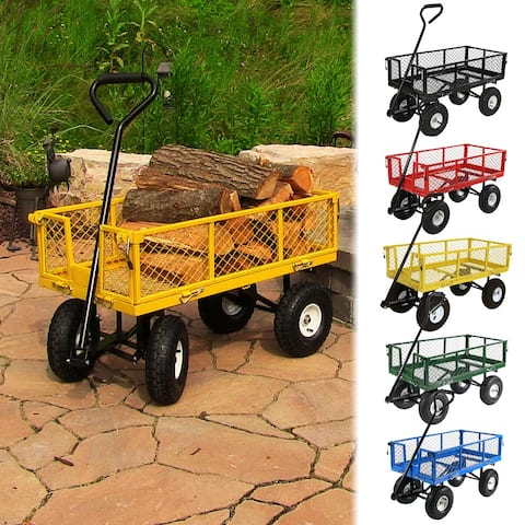 Utility Cart w/Removable Folding Sides 400lb Capacity -Color Options