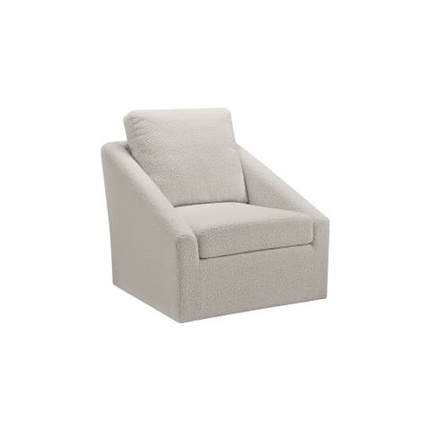 """Wysler Contemporary Cream Swivel Accent Chair - 31""""W x 34""""D x 35""""H"""