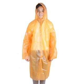 Plastic Cover Water Resistant Dustproof Travel Hiking Disposable Raincoat Orange