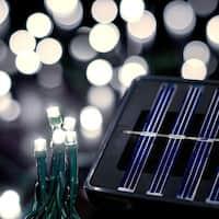 Saffron Solar String Lights, 200 LED, 60ft, Warm White