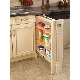 """Rev-A-Shelf 432-BF-6C 432 Series 6"""" Base Filler Pull Out Organizer with Adjustable Shelves - N/A"""