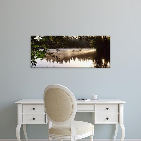 Easy Art Prints Panoramic Images's 'Reflection of trees in a lake, Sierra Foothills, California, USA' Canvas Art