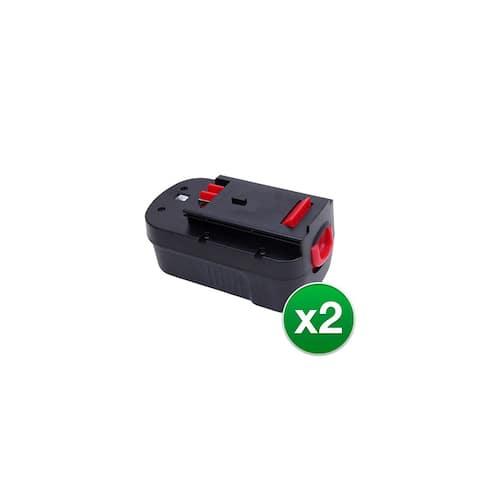 Replacement Battery for Black & Decker Firestorm A18 FSB18 HPB18-OPE 244760-00 - 2 Pack