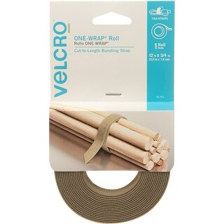 "Velcro(R) Brand One-Wrap(R) Roll .75""X12'-Tan"