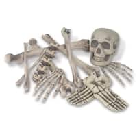 "Pack of 72 Spooky Skeleton Bag O' Bones Halloween Decorations 6""-16"" - White"