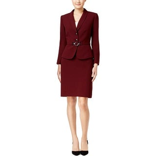 Tahari Womens Skirt Suit 2PC Belted