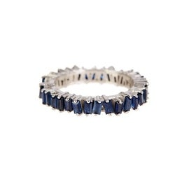 Genuine Blue Sapphire Baguette Ring