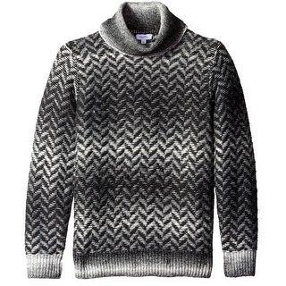 Calvin Klein NEW Black Combo Mens Size Large L Turtleneck Sweater