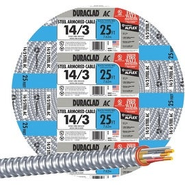 Southwire 25' 14/3 Stl Armor Cable