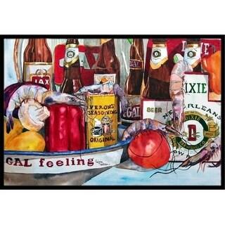 Carolines Treasures 1010JMAT 24 x 36 in. Verons and   Orleans Beers Indoor Or Outdoor Mat