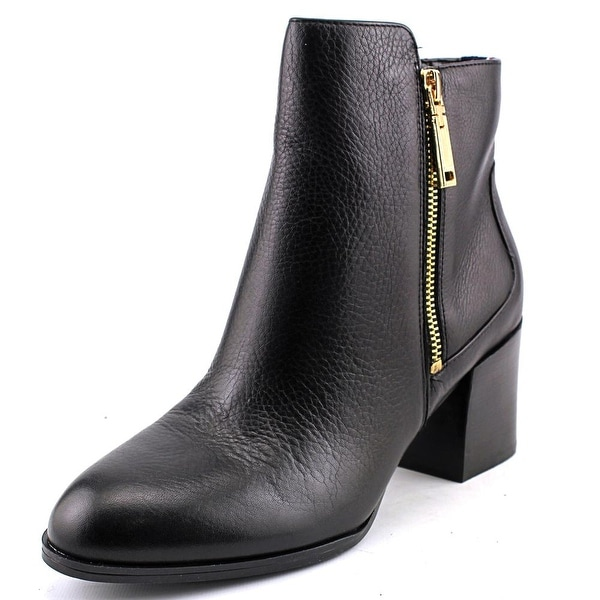 Tommy Hilfiger Dita Women Round Toe Leather Black Ankle Boot
