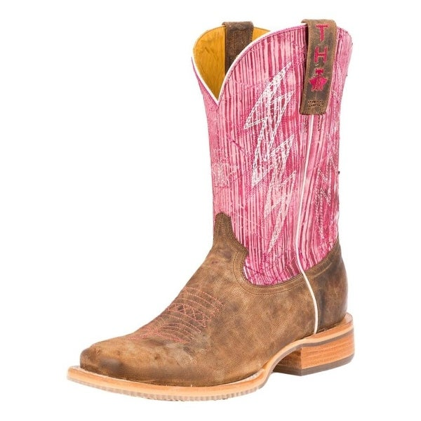 Tin Haul Western Boots Womens Cowboy Scratched