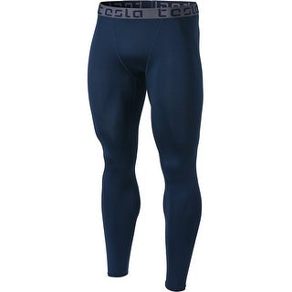 Tesla MUP09 Cool Dry Baselayer Sports Compression Pants - Navy/Dark Gray