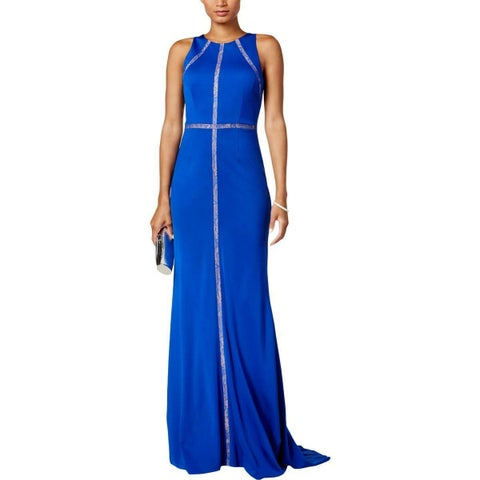Adrianna Papell Women's Lace-Trim Evening Jersey Gown