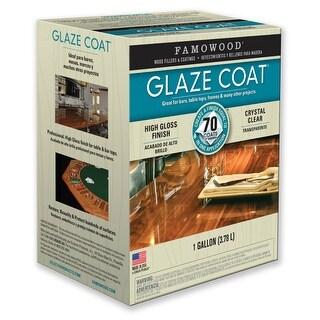 Famowood® 5050110 High-Gloss Finish Glaze Coat Epoxy Coating, Clear, 1-Gallon