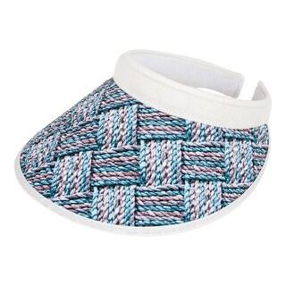 TopHeadwear Two-Tone Weave Clip-On Visor