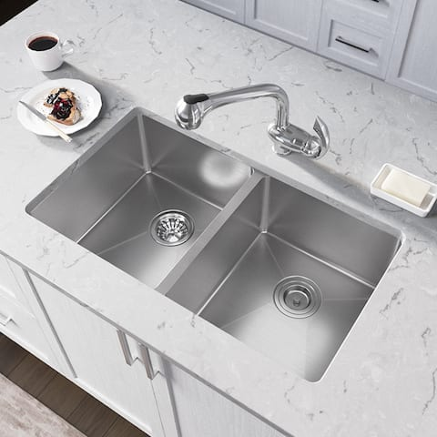 """3109D Double Bowl 3/4"""" Radius Stainless Steel Sink"""