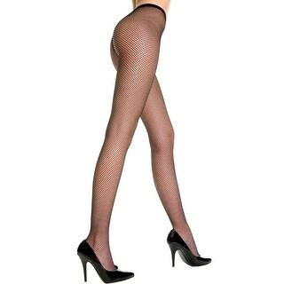 Frisky Fishnet Pantyhose, Spandex Fishnet Pantyhose - Black - One Size Fits Most
