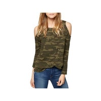 7bf6ce347f6cfc Shop Sanctuary Womens Alexi Sweatshirt Camouflage Off-The-Shoulder ...