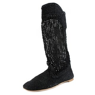 Tapeet Y09006 Women Round Toe Suede Mid Calf Boot