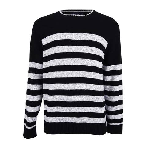 Nautica Men's Breton Striped Sweater - True Black