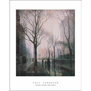 ''Plaza After the Rain'' by Paul Cornoyer Huntington Graphics Art Print (28 x 22 in.)