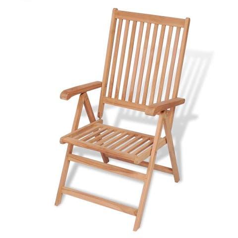 vidaXL Reclining Garden Chair Solid Teak Wood