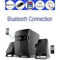 Boytone BT-3685F, Wireless Bluetooth 2.1 Multimedia Powerful Bass System, FM Radio, Remote, Aux Port, USB/SD Slot