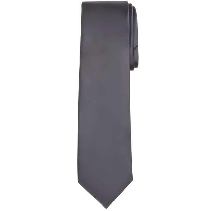 Solid color mens tie
