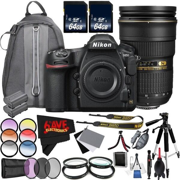 Nikon D850 DSLR Camera(Body Only) International Model + Nikon AF-S NIKKOR 24-70mm f/2.8G ED Lens Bundle