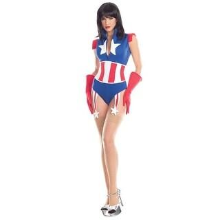BW1665 L-XL Womens Super Soldier Costume, 3 Piece - Large &