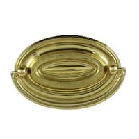 Hepplewhite Drawer Pull Polished Solid Brass 3 1/2 W | Renovator's Supply