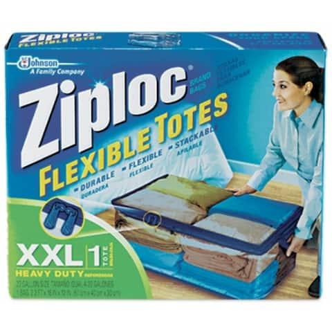 Ziploc 70162 Flexible Storage Tote, XX-Large, 22-Gallon