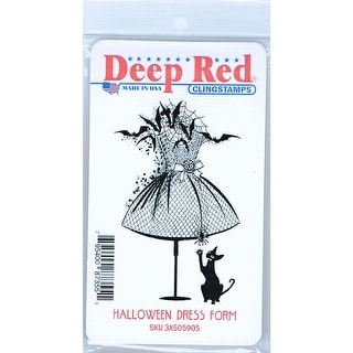 Link to Deep Red Stamps Halloween Dress Form Rubber Cling Stamp - 2 x 3.1 Similar Items in Stamping