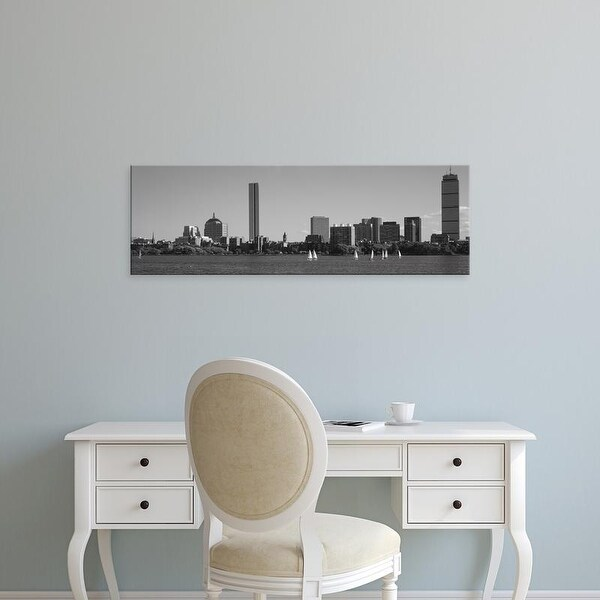 Easy Art Prints Panoramic Images's 'MIT Sailboats, Charles River, Boston, Massachusetts, USA' Premium Canvas Art