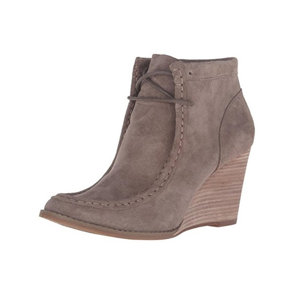 Lucky Brand Womens Ysabel Wedge Boots Suede Booties