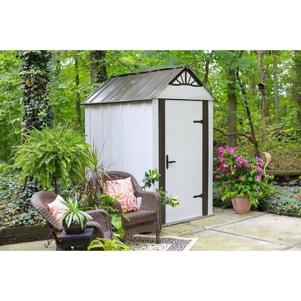 Shop Arrow Designer Hot Dipped Galvanized Steel Shed 4 W