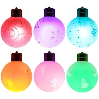 LED Christmas Hanging Ball, Wireless Remote Control RGB Color Changing Battery Operated Globe Lights,Indoor Decorative Lighting