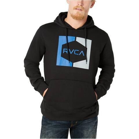 RVCA Mens Water / Oil Hoodie Sweatshirt, Black, Small