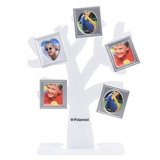 Polaroid Family Tree Frame  Tree with Stand & Five Magnetic Mini-Picture Frames (White) For Zink 2x3 Photo Paper Pojects