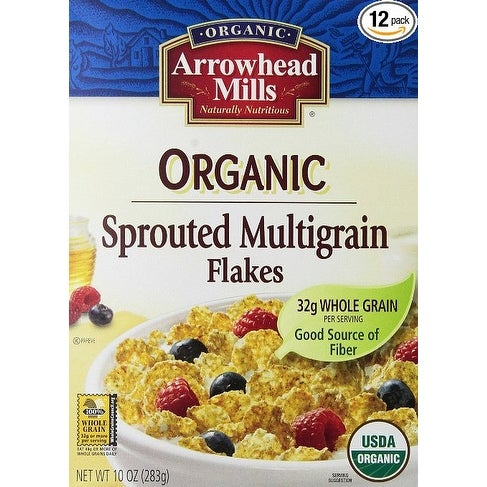 Arrowhead Mills Organic Sprouted Multigrain Flakes - Case of 12 - 10 oz.