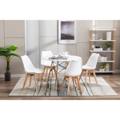 Porthos Home Bryan Kids Chairs Set Of 2, PU Leather Seat, Beech Wood Legs