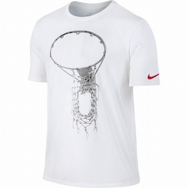 3af42498 Shop Nike White Mens Size 2XL Dri-Fit Basketball Hoop Graphic Tee Shirt -  Free Shipping On Orders Over $45 - Overstock - 26966219