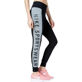 Nike Womens Athletic Leggings High-Rise Colorblocked
