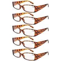 Eyekepper Spring Hinge Reading Glasses Readers Women Tortoise +1.5