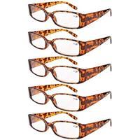 Eyekepper Spring Hinge Reading Glasses Readers Women Tortoise +1.75
