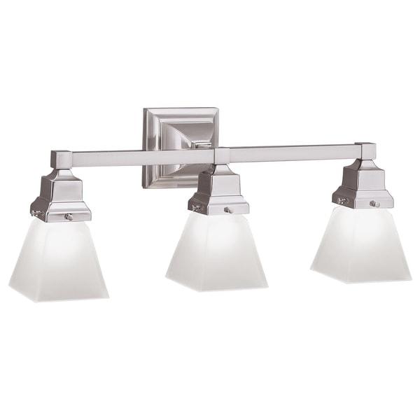 "Norwell Lighting 8123 Birmingham 9"" Tall 3-Light Bathroom Vanity Light with White Glass Shades - n/a"